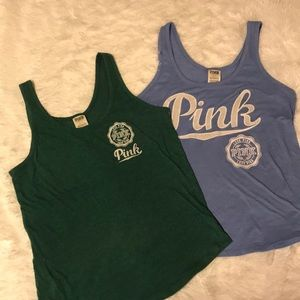 PINK, lot of 2 tanks, Small